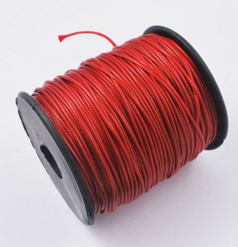 Waxed Polyester Cord 1mm - Crimson (one metre)